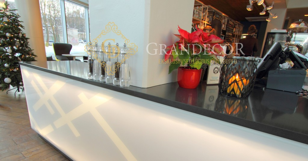 Custom orders grandecor for Anthracite cafe